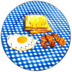 """Seletti """"Toiletpaper-New"""" Porcelain Dinner Plate, Breakfast"""