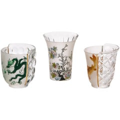 "Seletti ""Hybrid-Aglaura"" Set of Three Glass"
