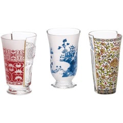 "Seletti ""Hybrid-Clarice"" Set of Three Glass"