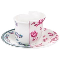 Seletti 'Hybrid-Leonia' Coffee Cup with Saucer in Porcelain