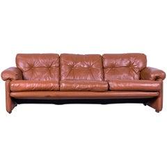B&B Italia Coronado Designer Sofa, Brown Leather Three-Seater