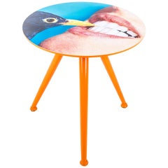 "Seletti ""Toiletpaper"" Wooden Table, Blackbird"
