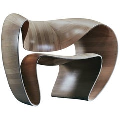 Contemporary 'Ribbon' Chair in Arctic Maple by Object Studio