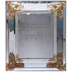 Parcloses Mirror with Gilt Bronze Sprandels, Austrian Work, Napoleon III Period