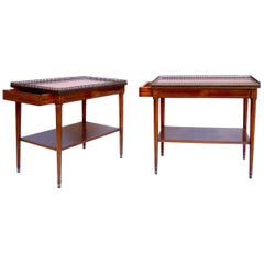 Pair of Louis XVI Style Mahogany Marquetry Salon Tables, circa 1940