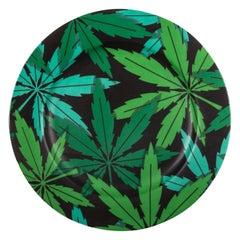 "Seletti ""Studio Job-Blow"" Porcelain Dinner Plate, Weed"