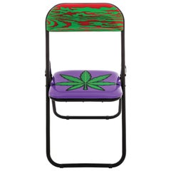"Seletti ""Studio Job-Blow"" Metal Folding Chair, Weed"