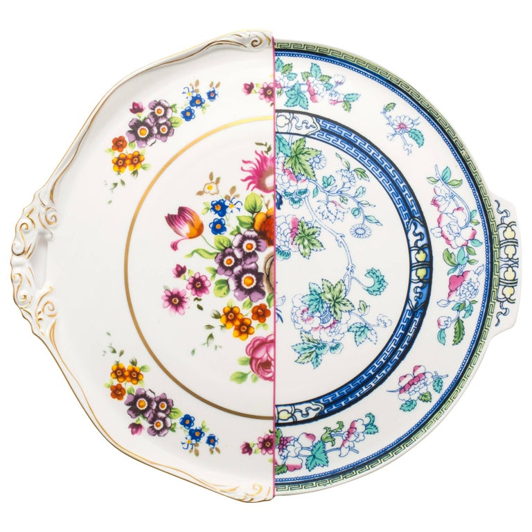 """Seletti """"Hybrid-Dorotea""""  Round Tray in Porcelain For Sale"""
