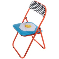 "Seletti ""Studio Job-Blow"" Metal Folding Chair, Egg"
