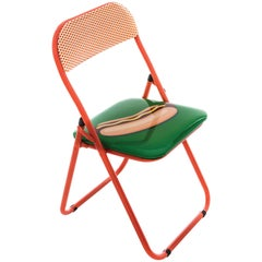 "Seletti ""Studio Job-Blow"" Metal Folding Chair, Hotdog"