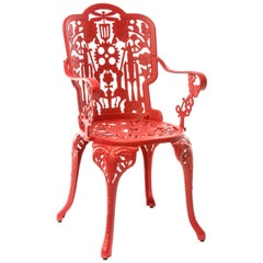 "Aluminum Armchair ""Industry Garden Furniture"" by Seletti, Red"