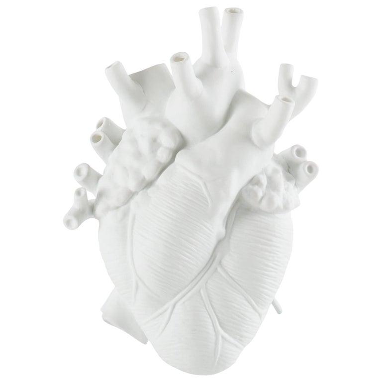 "Seletti ""Love in Bloom"" Porcelain Heart Vase For Sale"