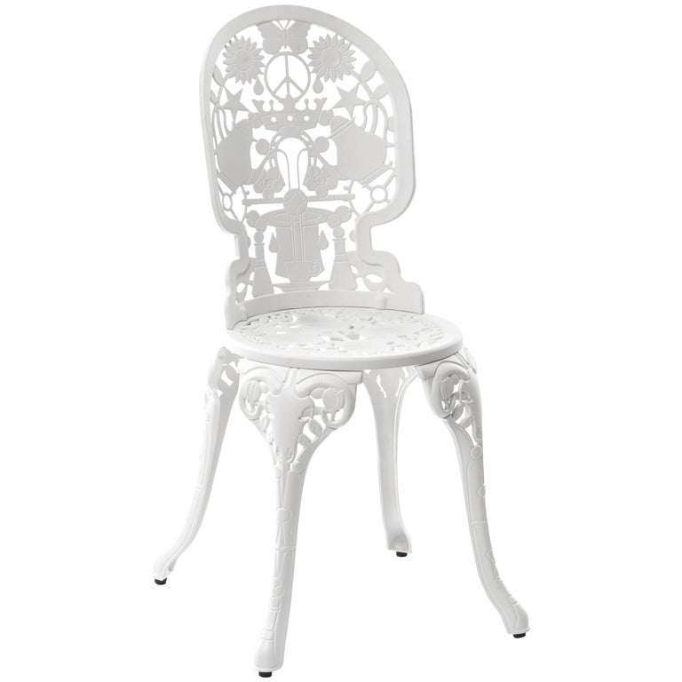 "Aluminium Chair ""Industry Garden Furniture"" by Seletti, White"