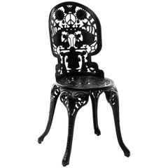 "Aluminium Chair ""Industry Garden Furniture"" by Seletti, Black"
