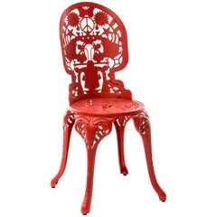 "Aluminum Chair ""Industry Garden Furniture"" by Seletti, Red"