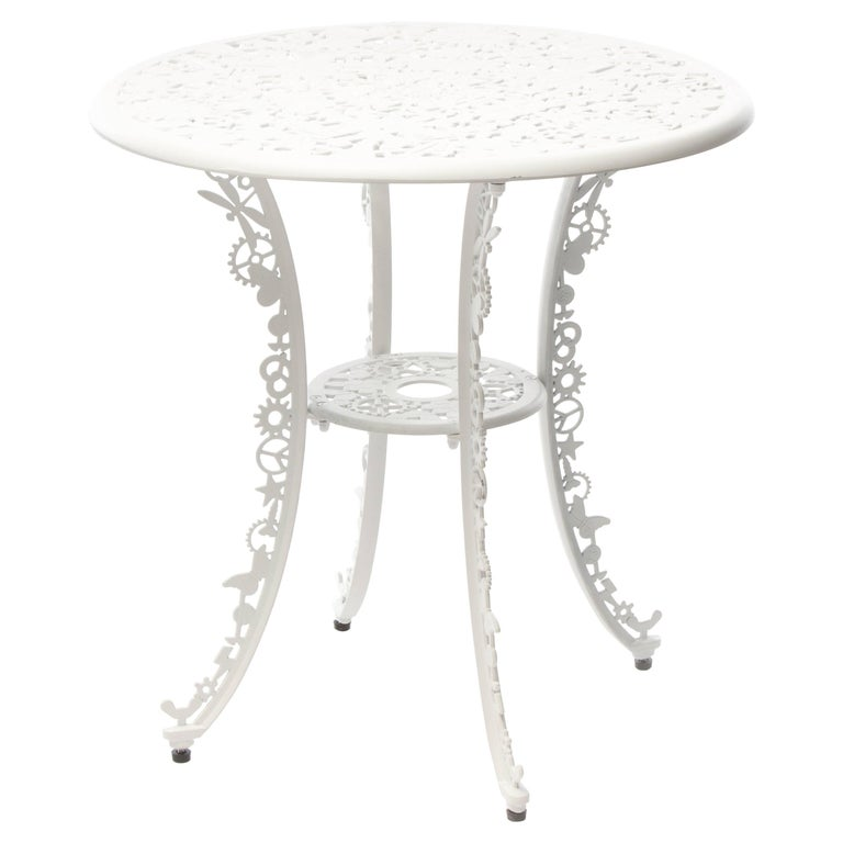 "Aluminium Table ""Industry Garden Furniture"" by Seletti, White"