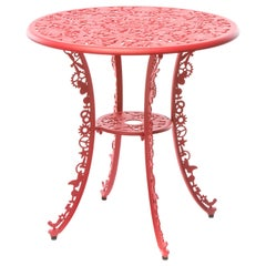 "Aluminum Table ""Industry Garden Furniture"" by Seletti, Red"