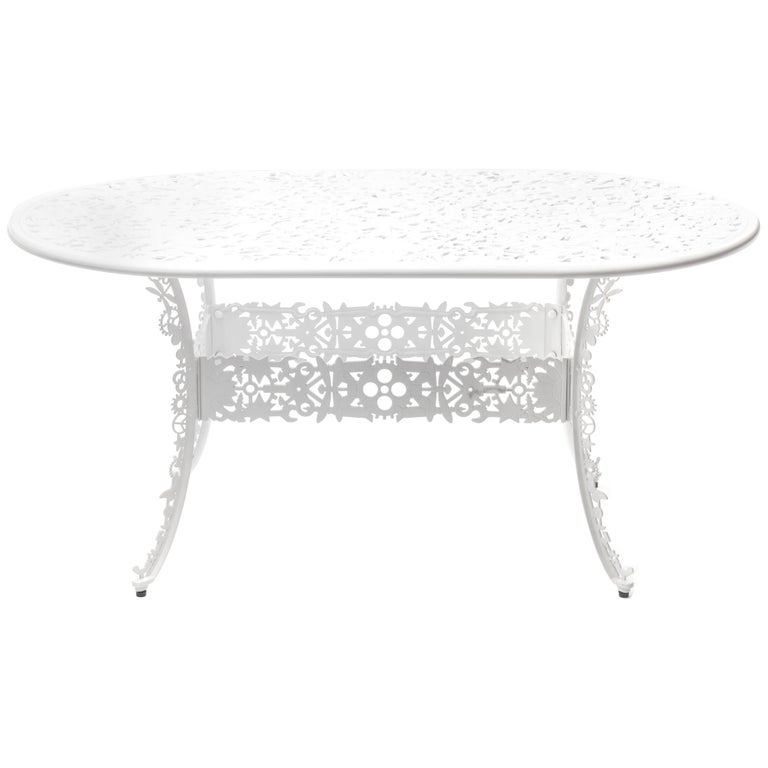 Aluminium Oval Table Industry Collection By Seletti
