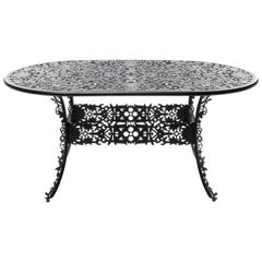 "Aluminum Oval Table ""Industry Collection"" by Seletti, Black"