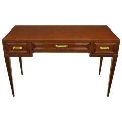 Fine Arts Furniture Co. Elegant Mahogany Three Drawer Writing Table