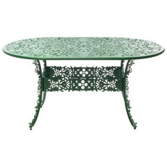 "Aluminium Oval Table ""Industry Collection"" by Seletti, Green"