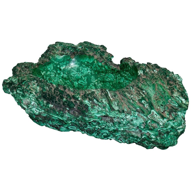 Extra Large Ashtray in Malachite or Vide-Poche