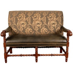 Hancock and Moore Leather Settee