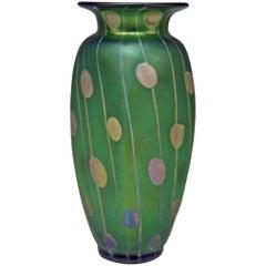 Vase Loetz Bohemia Art Nouveau Decor Spots and Stripes Kolo Moser, circa 1900