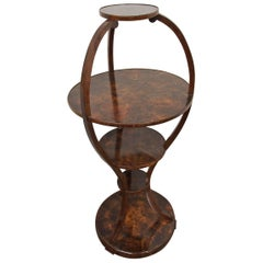 Unusual Circular Walnut Whatnot, circa 1900