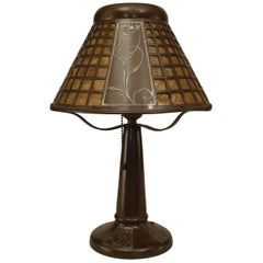American Mission Brown Patinated Bronze Table Lamp