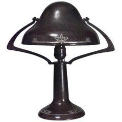 American Mission Heintz Art Metal Bronze Table Lamp