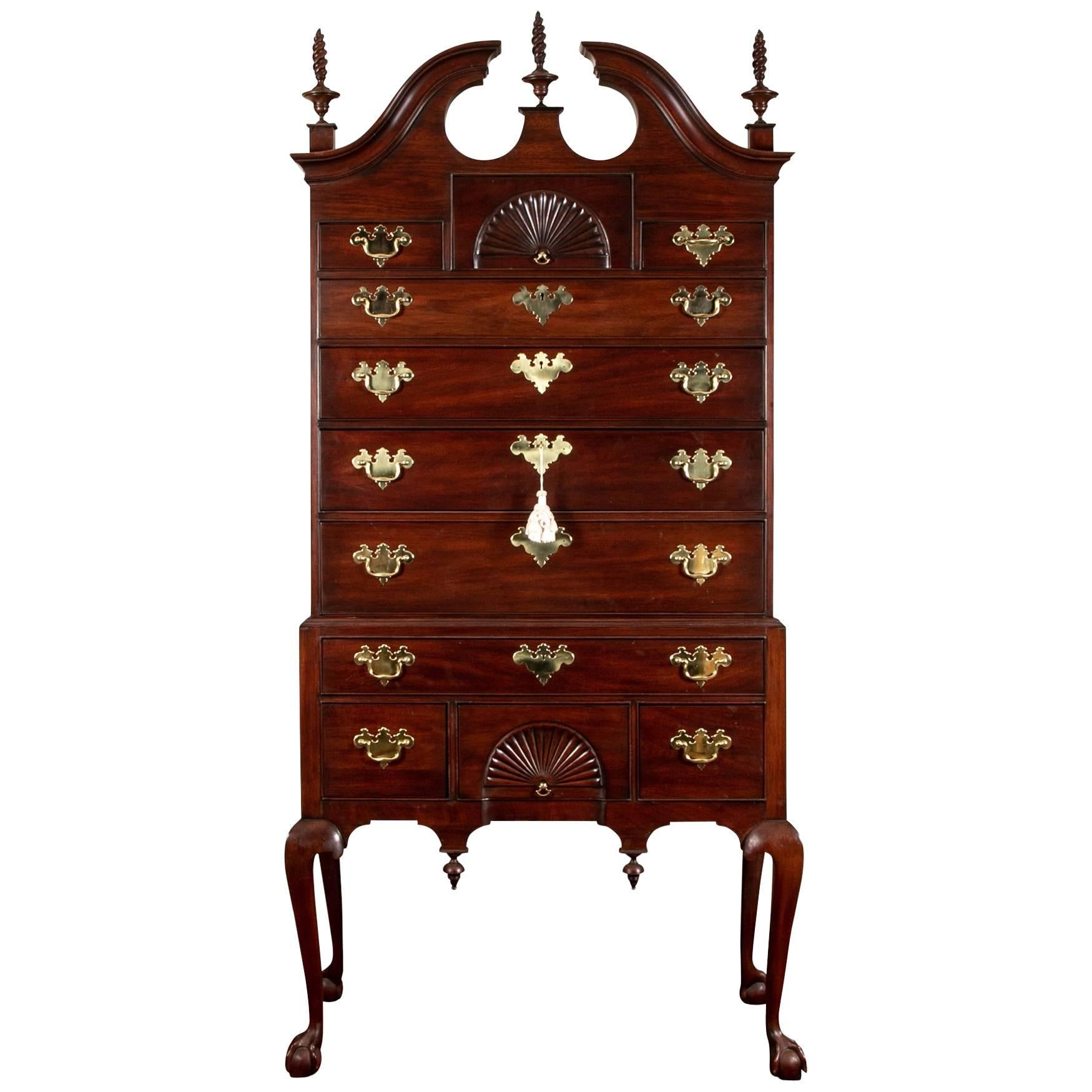 Henkel Harris Dale High Chest, 18th Century Spnea Authorized Reproduction  For Sale