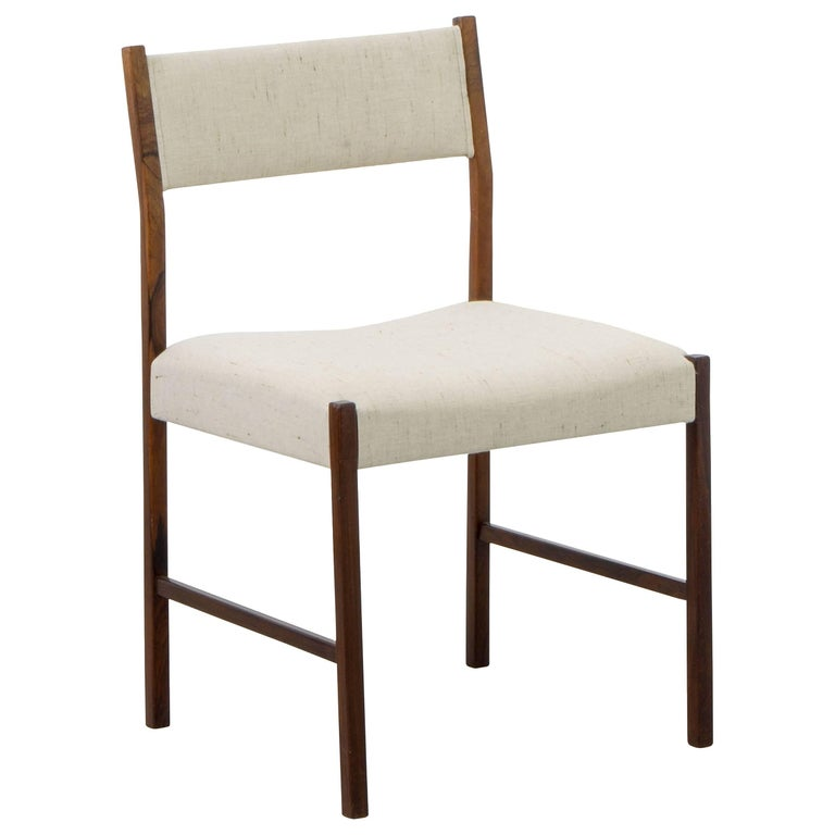 "Jacarandá ""Itamarati"" Side Chair by Jorge Zalszupin, Brazilian Midcentury"