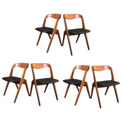 Johannes Andersen Dining Chairs, Set of Six, Reupholstered