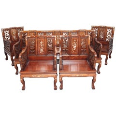 Early 20th Century Chinese Five-Piece Suite