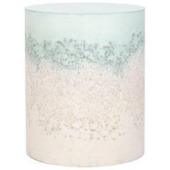 Drum, Celadon Cement and White Rock Salt and White Sand by Fernando Mastrangelo