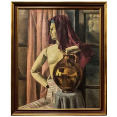 Antonio Matallana 20th Century Signed Oil on Canvas MODEL