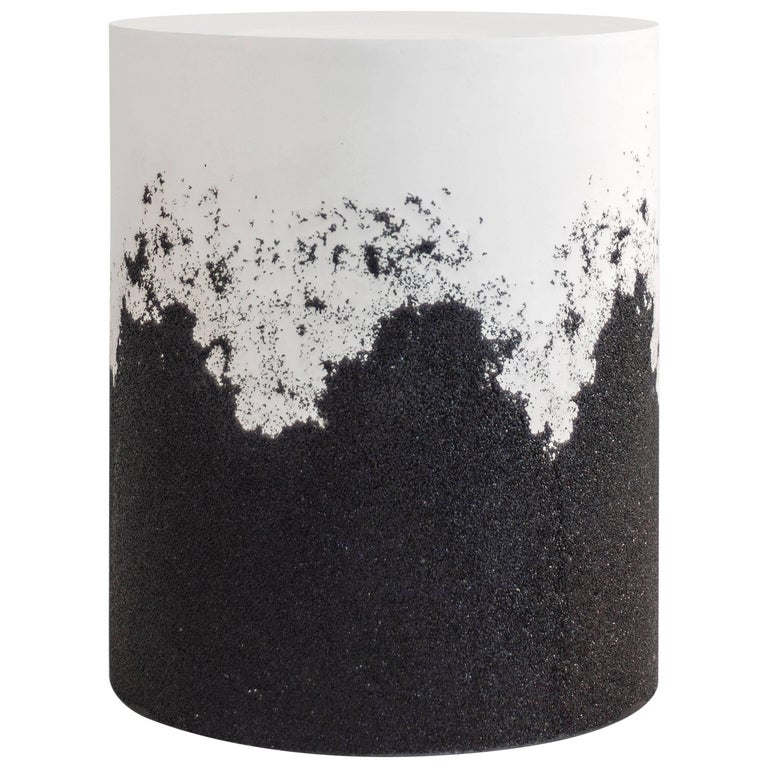 Drum, White Cement and Black Silica by Fernando Mastrangelo For Sale