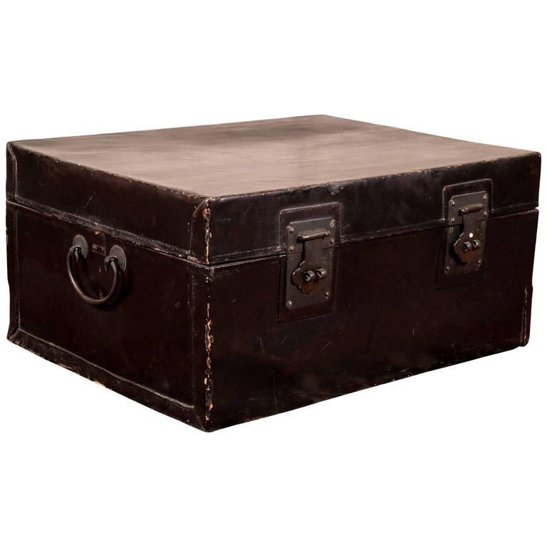 Antique Chinese Double Lock Trunk as a Coffee Table
