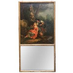 18th Century French Trumeau Mirror