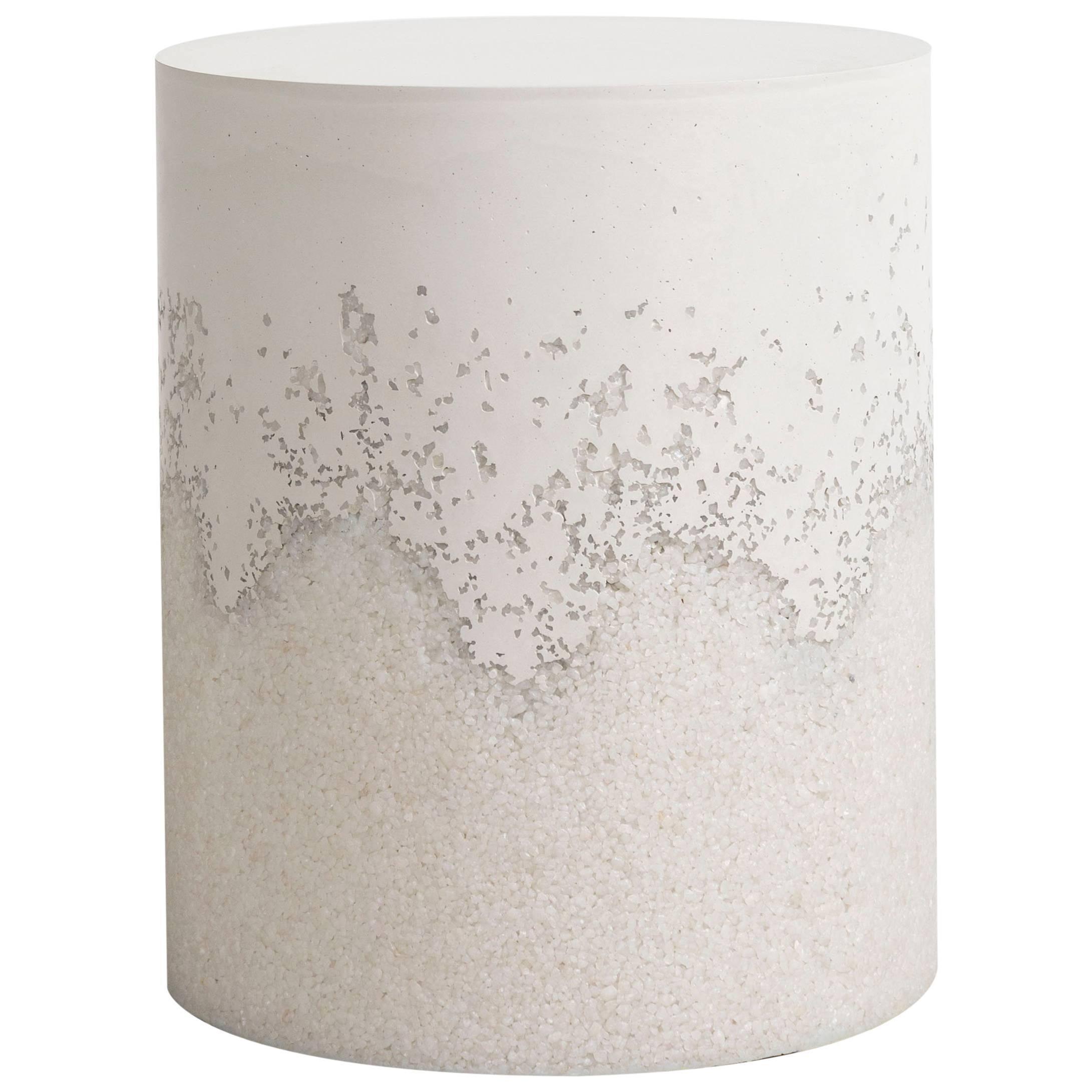 Drum, White Cement and Crystal Quartz by Fernando Mastrangelo