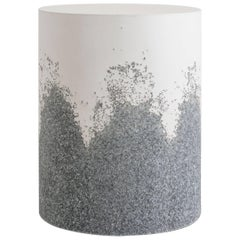 Drum, White Cement and Grey Crushed Glass by Fernando Mastrangelo