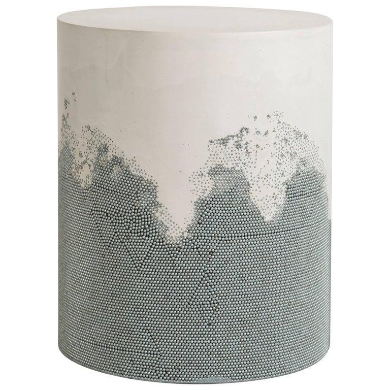 Drum, White Cement and Silver BB by Fernando Mastrangelo