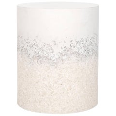 Drum, White Cement and White Rock Salt by Fernando Mastrangelo