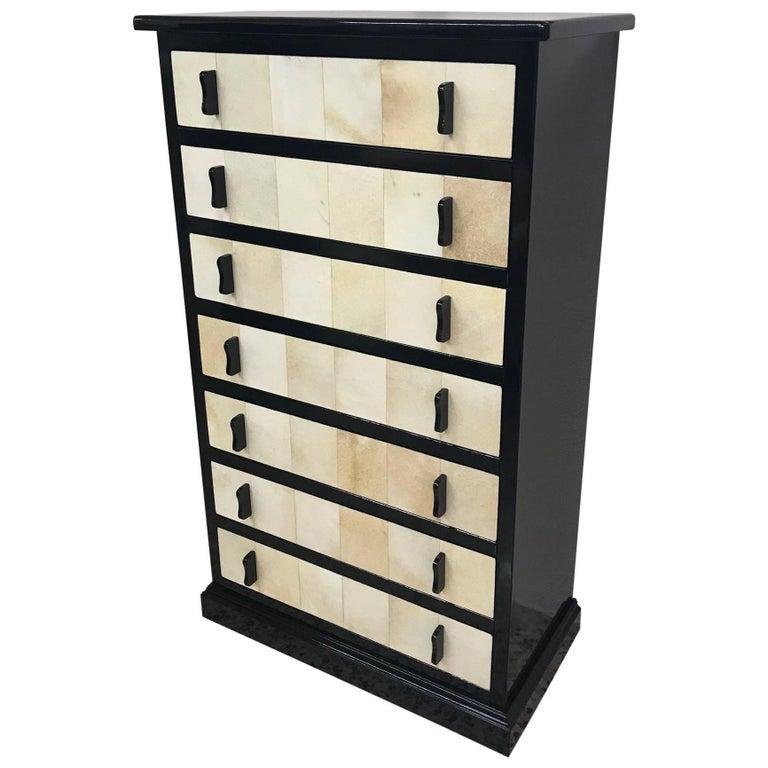 Art Deco Parchment Dressers, Italy