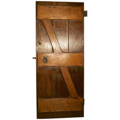 Arts & Crafts Oak Plank Door with Iron Fittings