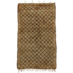 Beni Ourain Vintage Berber Moroccan Rug with Mid-Century Modern Style