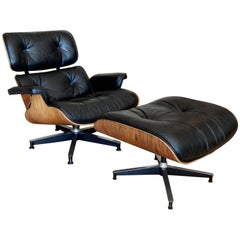 Beautiful Vintage Herman Miller Rosewood Lounge Chair & Ottoman by Charles Eames