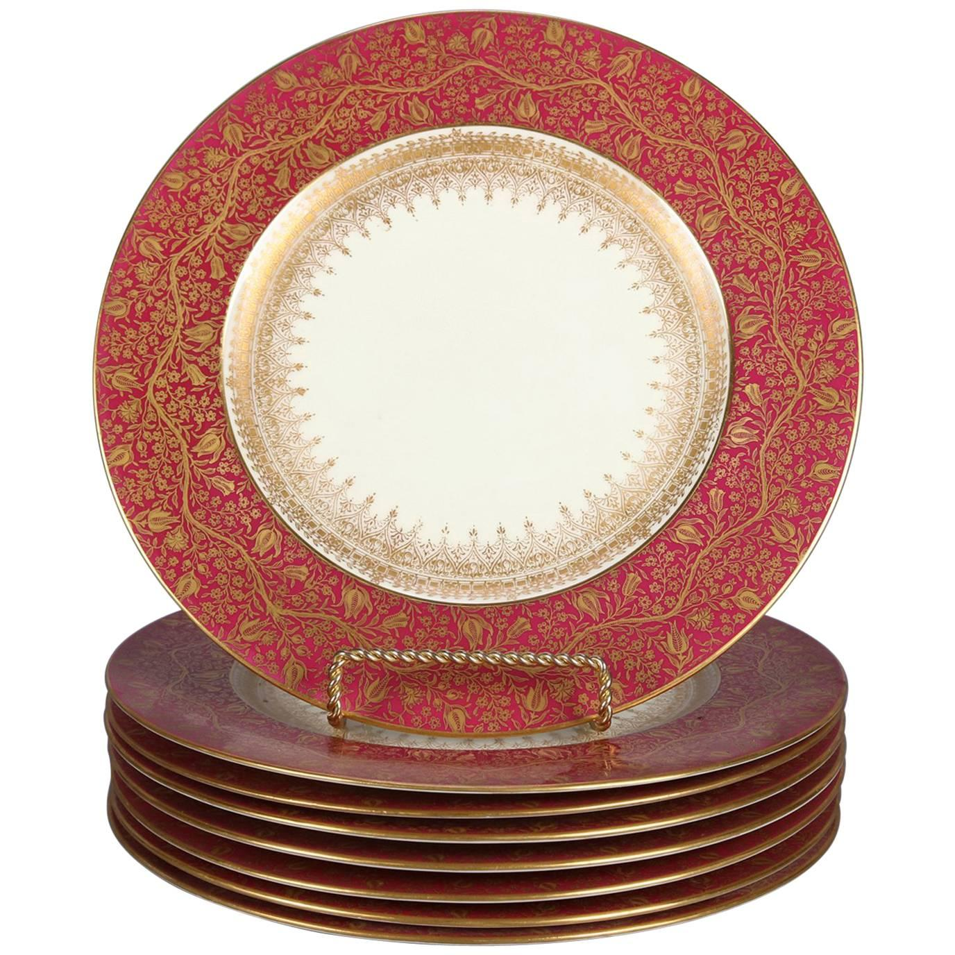 Eight English Gilt Fine China Dinner Plates by George Jones Crescent \u0026 Sons For Sale  sc 1 st  1stDibs & Eight English Gilt Fine China Dinner Plates by George Jones Crescent ...