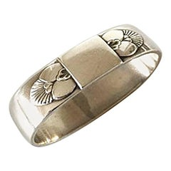 Georg Jensen Sterling Silver Cactus Napkin Ring No 81B